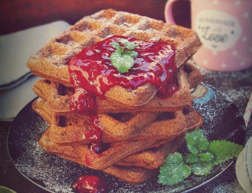 Waffles sa pireom tikve