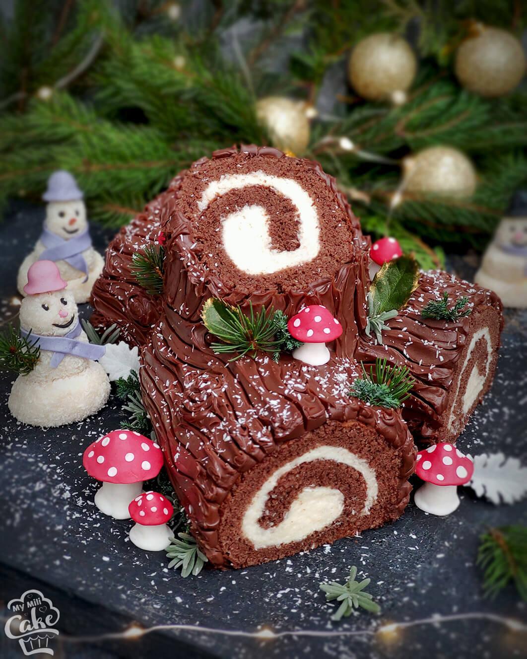 Božićni panj sa kokosom i čokoladom