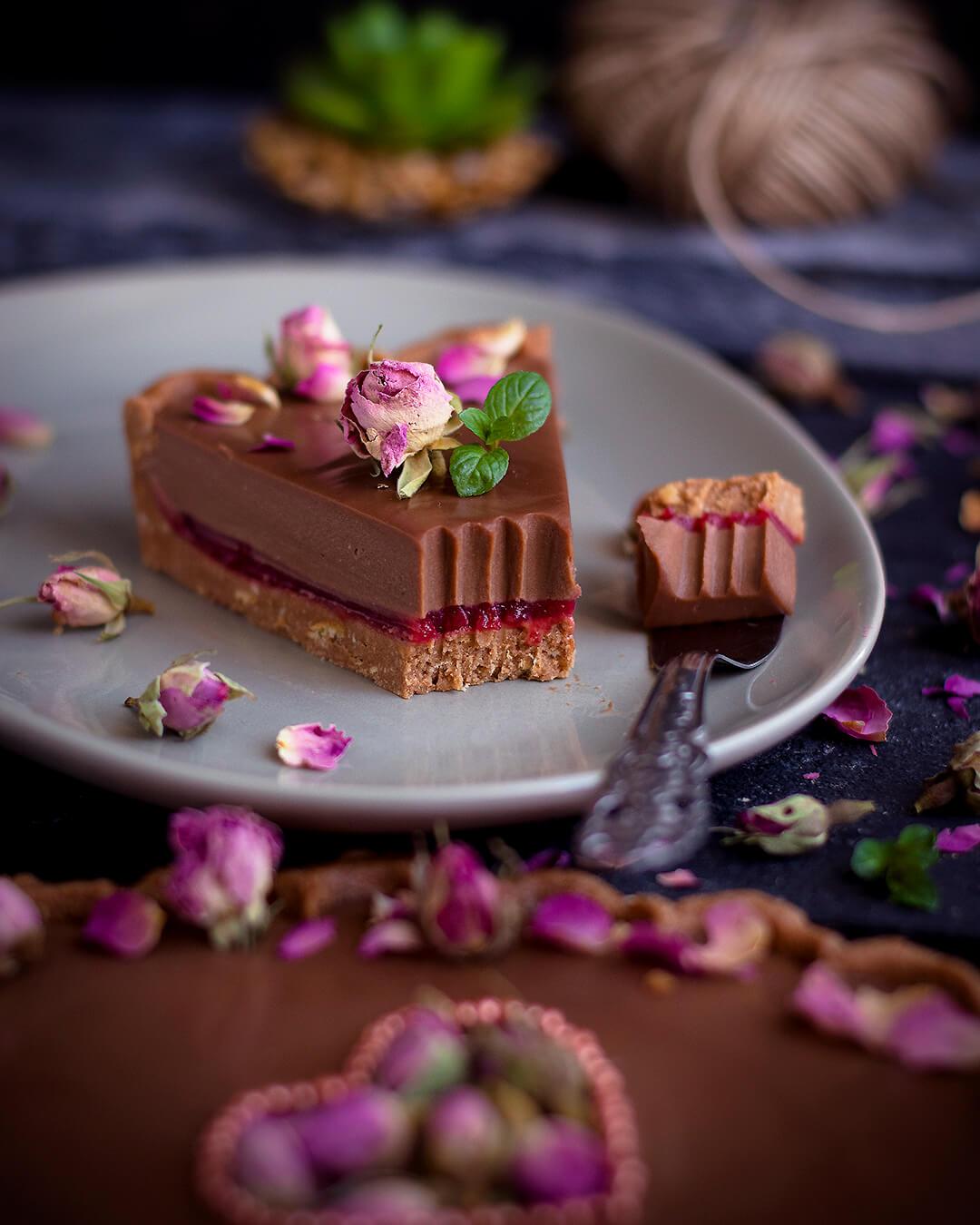 Tart sa malinama i čokoladom