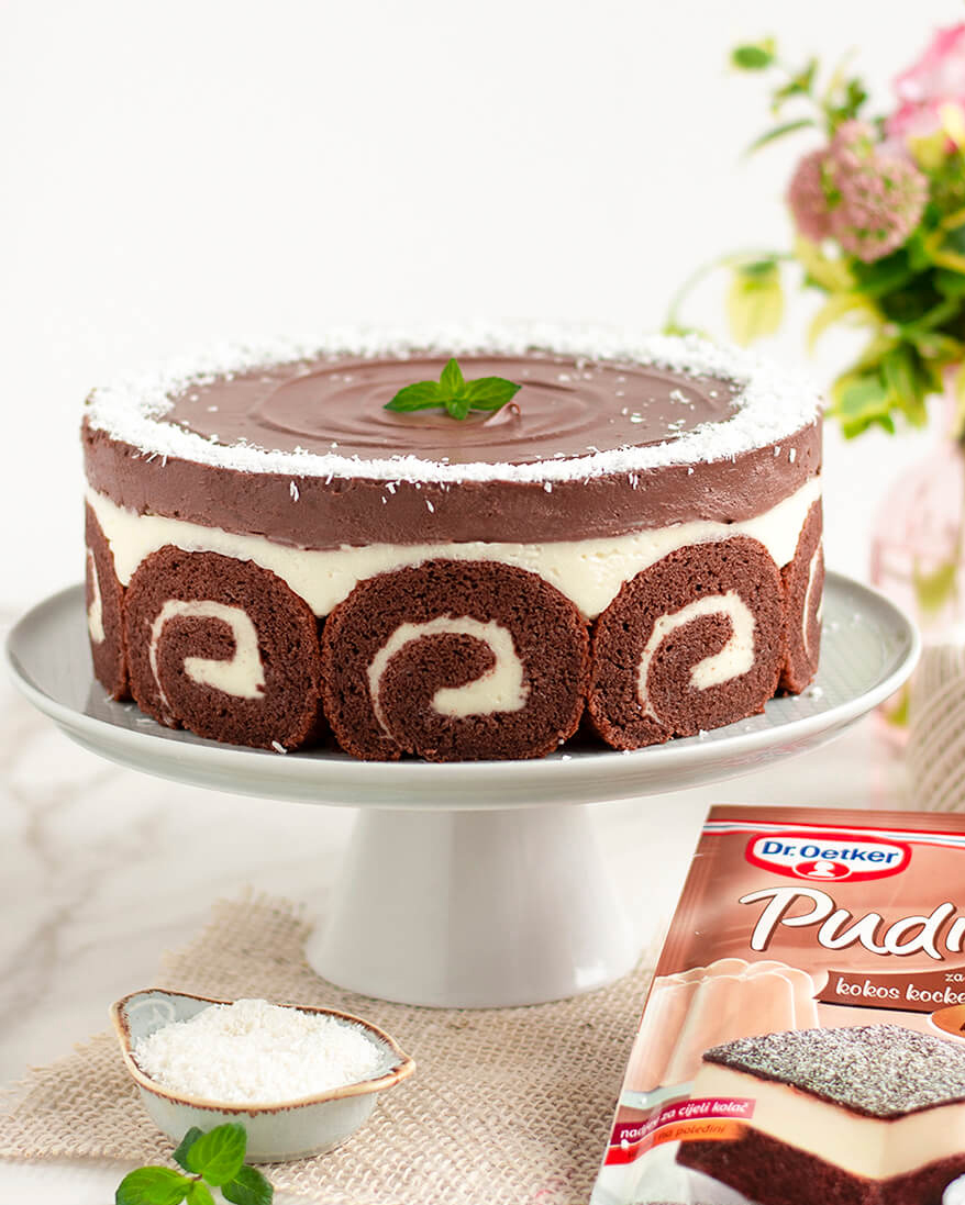 Kokos – čokos torta